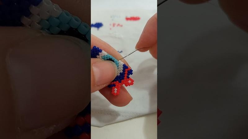 Miyuki boncukları ile nazar boncuğu yapımı ZUZİ MİYUKİ zuzi miyuki