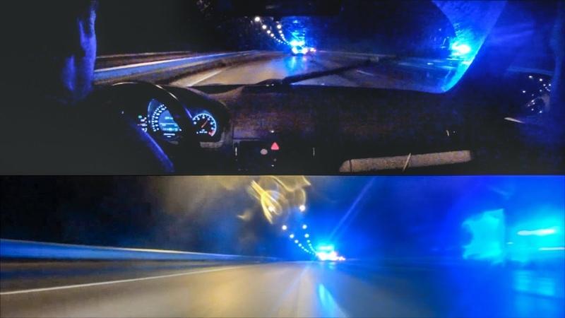 HIGHWAY 2 Mercedes Benz C63 AMG outruns police