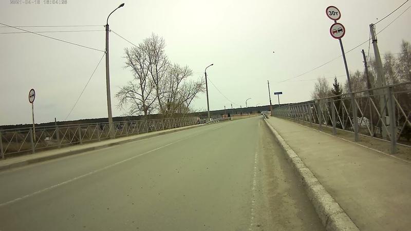 7 2021 Маслянино Центр автовокзал мост через Бердь Ледоход уже прошел