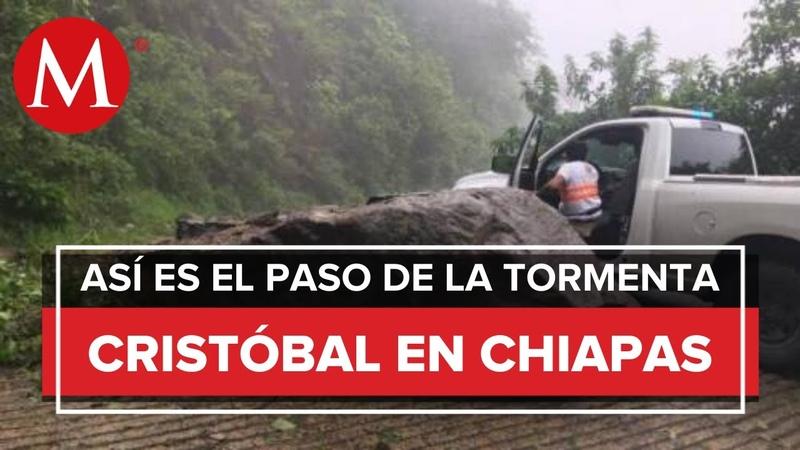Lluvias provocan deslaves en zona alta de Tapachula