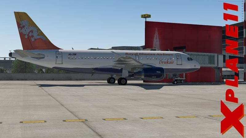 XP11 A319 Indira Gandhi Int VIDP to Paro Intl VQPR