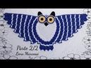 🦉Parte 2/2 Destro Tapete Coruja de crochê lenamarcossi Crochétka crochê coruja