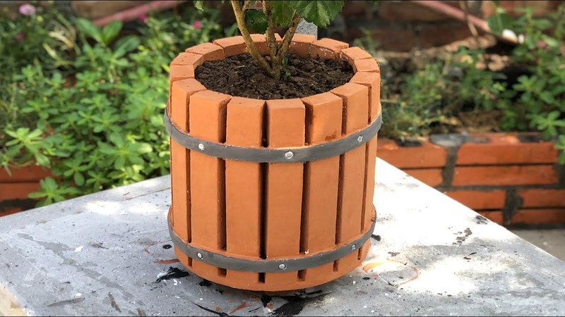 Amazing Creativity From Cement - Creates Pots Beautiful With Special Shape, Unique At Home