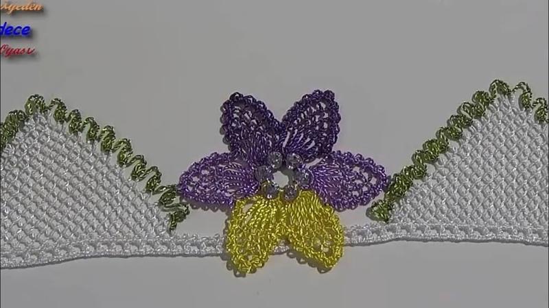 Zarafet ve Şıklık Sevenler için İğne Oyası ile HERCAİ Çiçeği Havlu Kenarı Modeli 277. Örnek