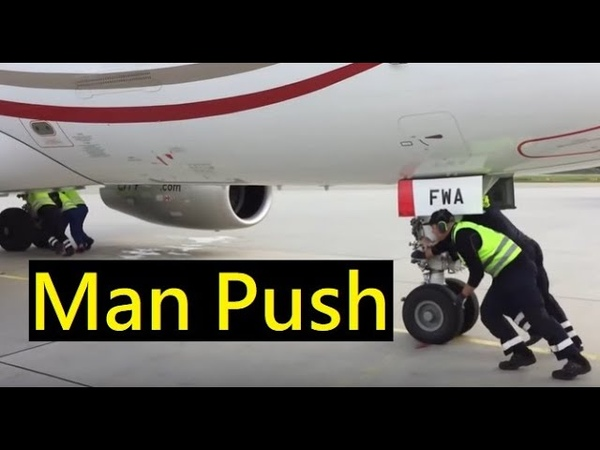 Pushing A Plane by Hand | Airport Pushback Tractor | Pushback Truck Tug