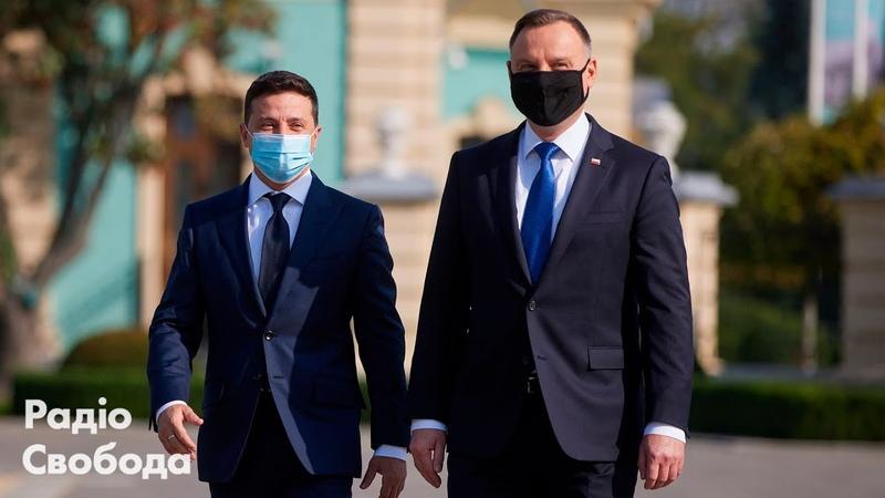 Дуда у Києві привітався гаслом «Слава Україні» і згадав про Крим