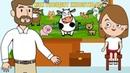 Развивающие мультики про животных для детей! Учим как выглядят и говорят животные!
