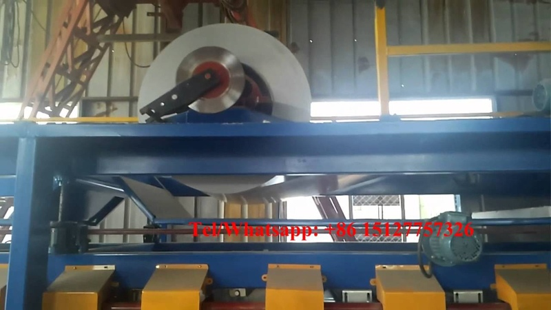 Вата БАЗАЛЬТ Basalt fiber sandwich machine line working video Sandwich Panel Cold Roll Forming Machine