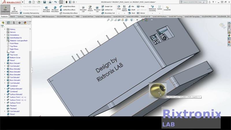 Designing XR2206 Function Generator Case Solidworks Ep23