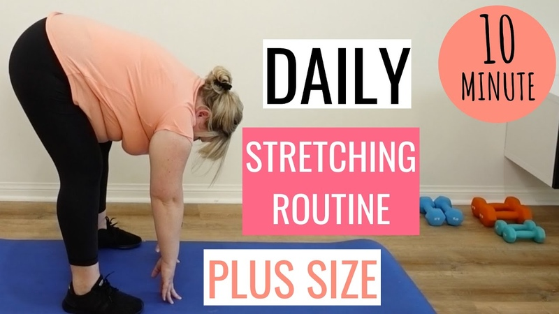 Plus Size Morning Stretch Exercise Routine for Obese Beginners Get Rid of Stiffness Aches Pains