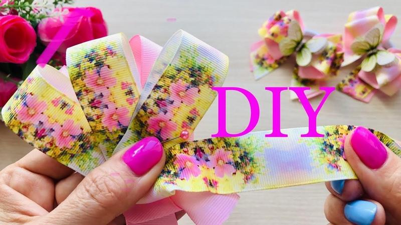 Незаменимые Летом💐Понравятся Любой Девочке💐Бантики из репсовой ленты 2,5 см DIY ribbon bow.