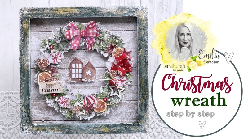 How to Create Christmas Wreath out of Lemoncraft papers
