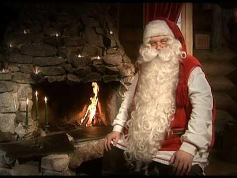 Joulupukin terveiset lapsille olkaa kiltisti Korvatunturi Joulupukki pajakylä lastenohjelma joulu