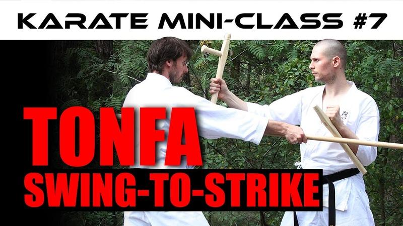 Karate Mini Class 7 Swing To Strike Tonfa AJ from The Digi Dojo