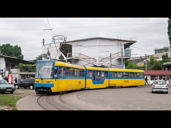 Скоростной трамвай №1 Speed Tram №1 Ст Старовокзальна Михайлівська Борщагівка