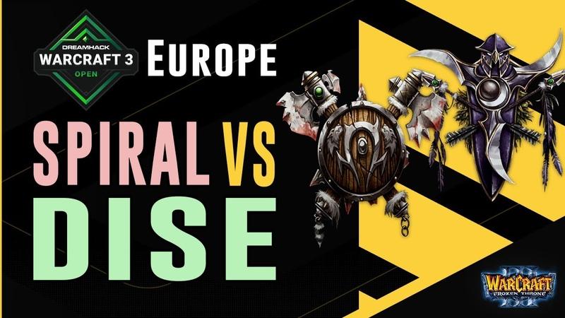 WC3 DreamHack Summer'21 EU Closed Qualifier LB R1 ORC Spiral vs Dise NE