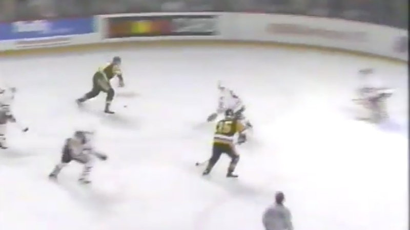 Ron Francis Goal - Game 4, 1992 Stanley Cup Final Penguins vs. Blackhawks