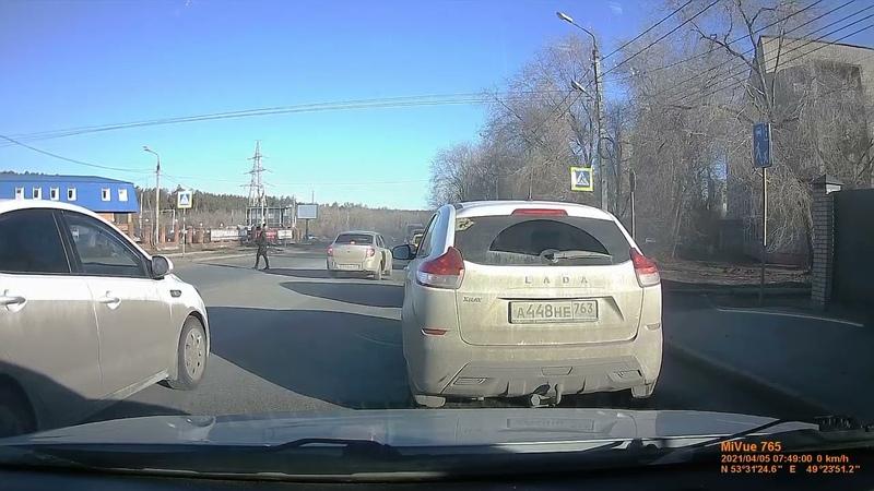 Выезд на встречную полосу в Тольятти
