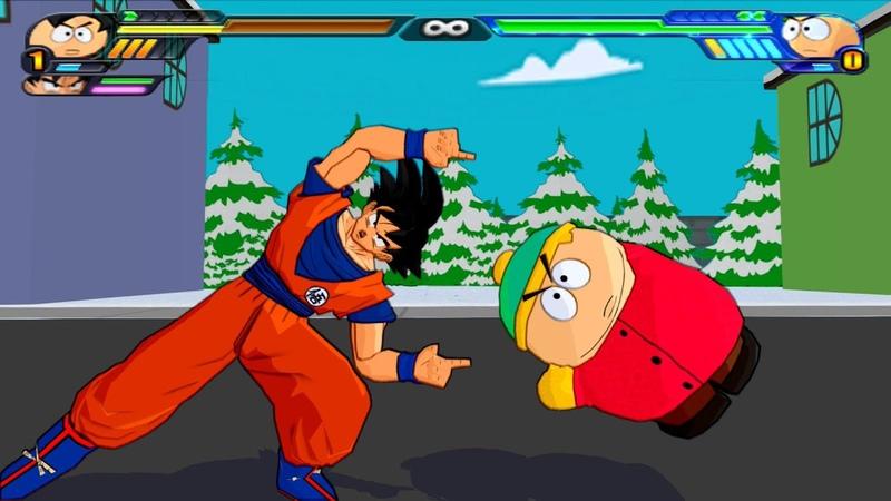 Goku and Eric Cartman FUSION DRAGON BALL MEET SOUTH PARK DBZ Tenkaichi 3 MOD
