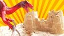 Vídeos mais divertidos para aprender com dinossauros! Brincadeira infantil educativa