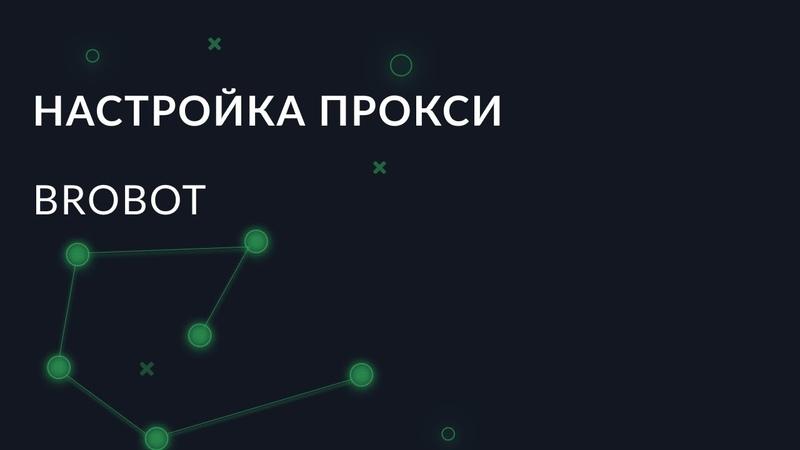 Настройка прокси в программе BroBot