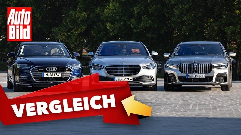 Mercedes S-Klasse (2020) Sitzprobe - Innenraum - Vergleich - BMW 7er - Audi A8 - Info