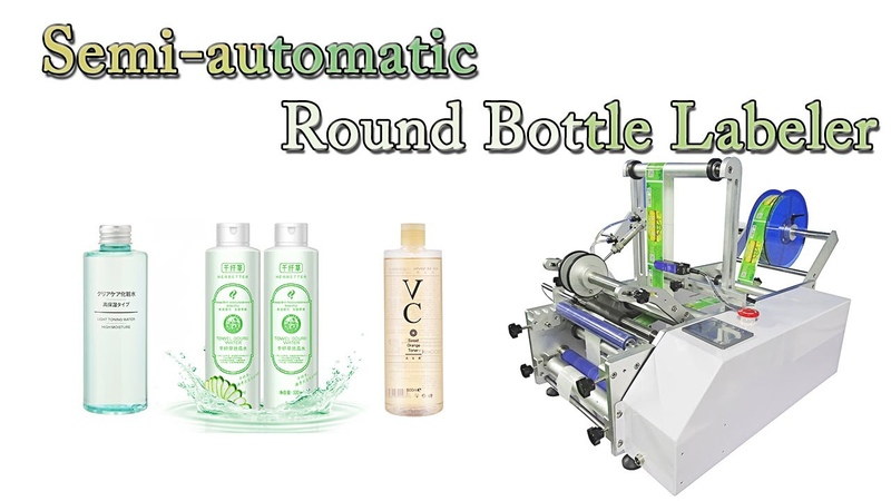 Semi automatic Labeler for Re hydrating Conforting Toner Round Bottles Label Application Machine