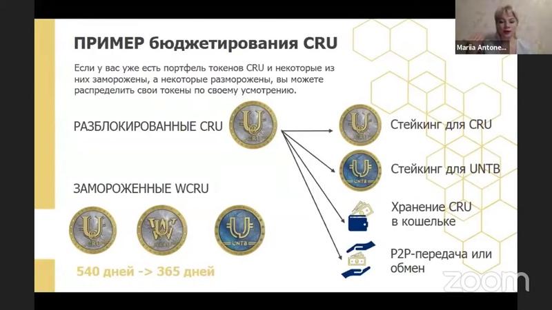 Как распорядиться токенами CRU и WCRU