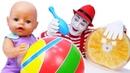 Смешное видео – Боулинг для куклы БЕБИ БОН! - Весёлые игры с мячом. Детские мультики с Baby Born