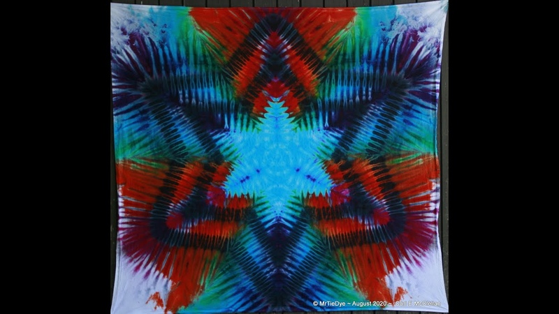 Wednesday's with MrTieDye ~ Episode 19 ~ Rainbow Star Tapestry ~ Auction with Q A session