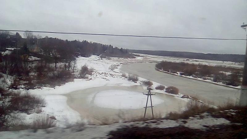 От Партизанская до Толмачёво через реку Луга и далее Ленинградская область 28 02 2021