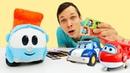 Детское видео про игрушки и мультик Грузовичок Лева. Машинки и Робокар Поли строят дом роботу поезду