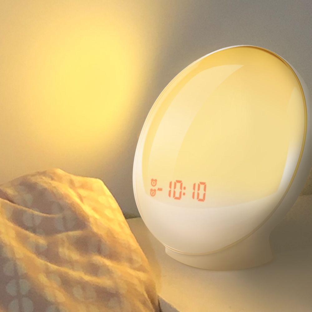Цифровой будильник с имитацией восхода и заката солнца