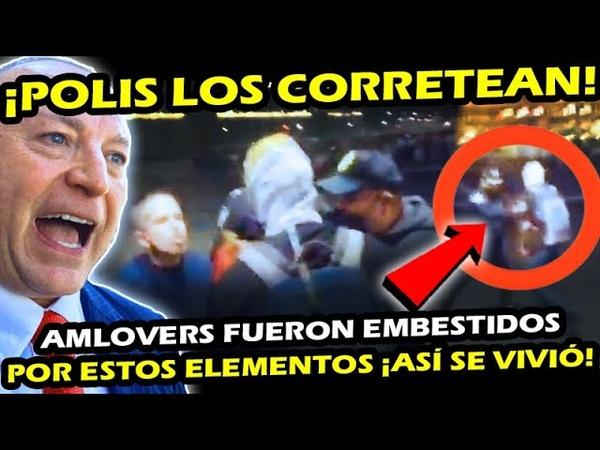 HACE RATITO ¡ POLIS DE CDMX CORRETEAN A AMLOVERS y GENTE QUE APOYA AL PRESIDENTE ASI FUE COMO PASO