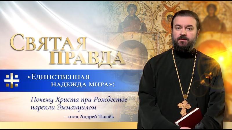 Единственная надежда мира Почему Христа при Рождестве нарекли Эммануилом – отец Андрей Ткачёв