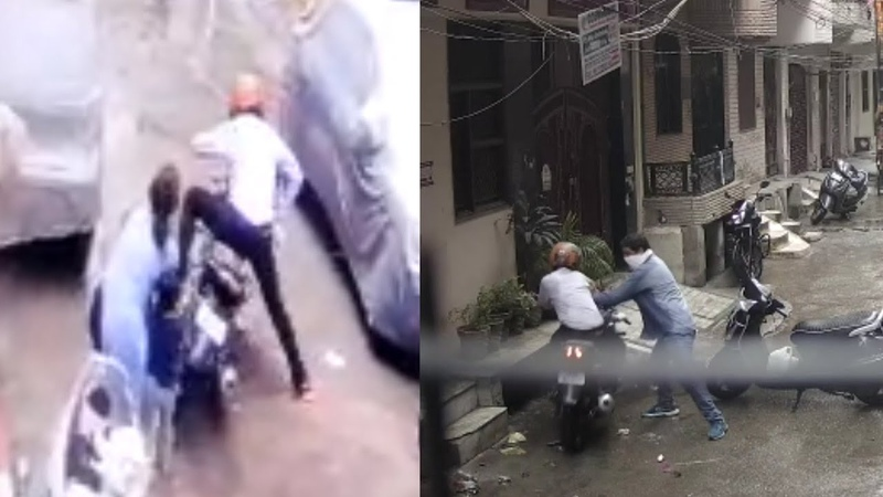 Mother Fights With Kidnappers Save A 4 yr Old Child In Delhi Camera Mein Qaid Huye Baccha Chor