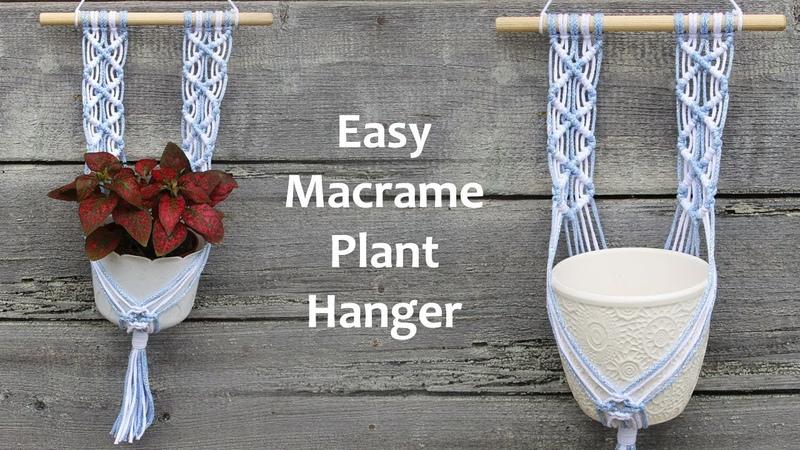 How to make Macrame Plant Hanger   Easy Macrame Tutorial   Макраме Для Начинающих   Макраме кашпо
