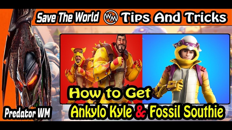 How to Get Ankylo Kyle AND Fossil Southie Save The World Fortnite