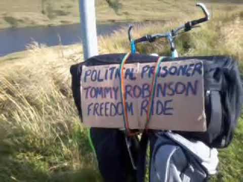 Tommy Robinson political prisoner freedom ride (mull 2019)