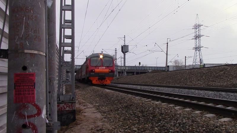 Электропоезд ЭД4М-0251 перегон Мытищи-Лосиноостровская