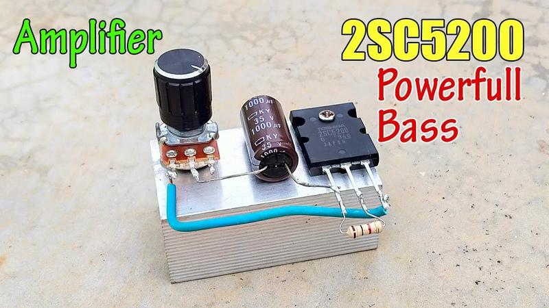 DIY 2SC5200 Amplifier 12v    Simple Powerfull Bass