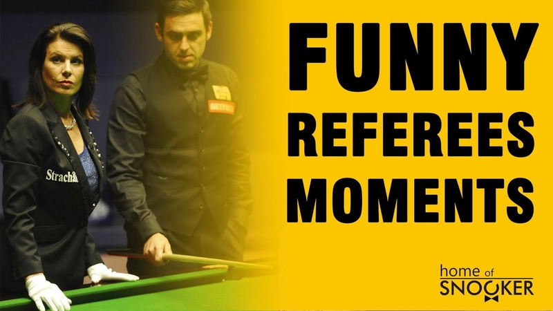 Some funny moments with snooker referees
