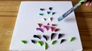 Colorful Flower Field Painting Demo / Easy For Beginners / Satisfying / Project 100 Days / Day 60