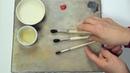 Как подготовить кисти для живописи маслом. Художник Лариса Гончарова - Жостово Арт Студия