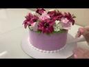 Торт-Букет ЛИЛИИИ РОЗЫ ГОРТЕНЗИИ из Белкового крема! БЗК! Красивый торт! Cake Decorating Ideas!