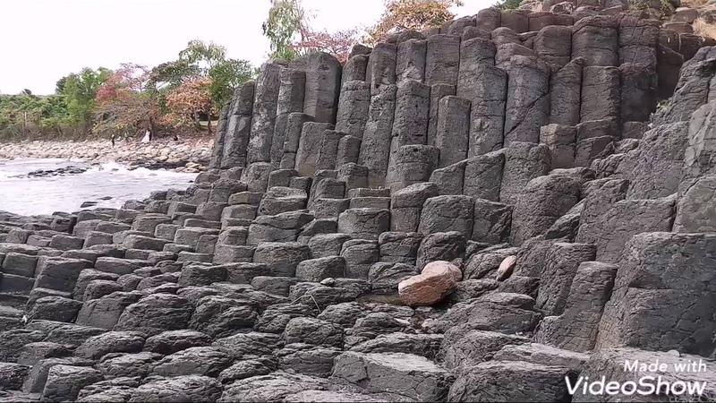 Basalt columns Ganh Da Dia Базальтовые колонны Да Диа