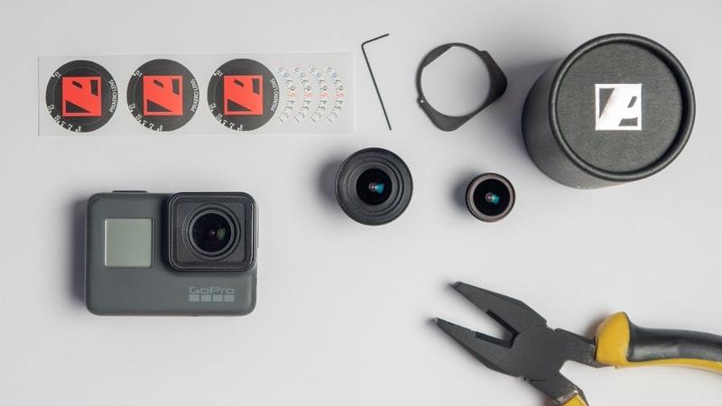 GoPro простая замена объектива Установка макро объектива PIXAERO