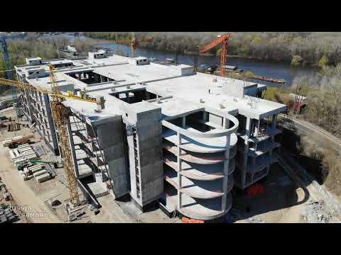 Строительство Торг Центра 2020 2022 г ЭкоГрад Волгарь апрель 2021 город Самара Russia
