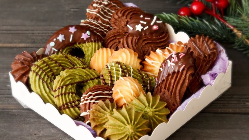 МНОГО ВКУСНОГО ПЕЧЕНЬЯ из ОДНОГО ТЕСТА 🎁СЛАДКИЙ подарок на НОВЫЙ ГОД🎁 Cookie box recipe Yana Ben