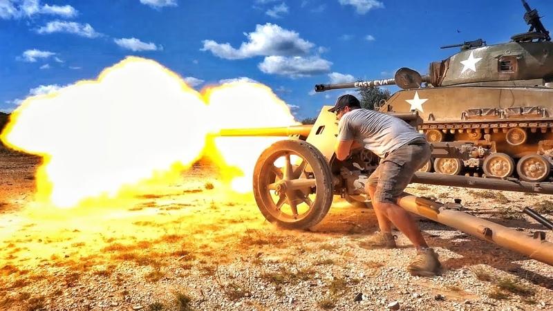 Противотанковая пушка времен Второй мировой против пикапа! | Разрушительное ранчо | Перевод Zёбры